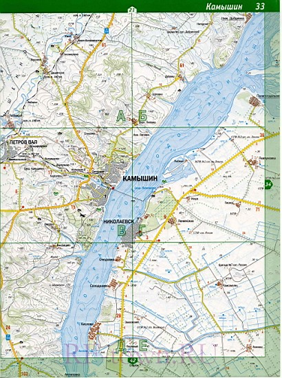 карта Камышинский район